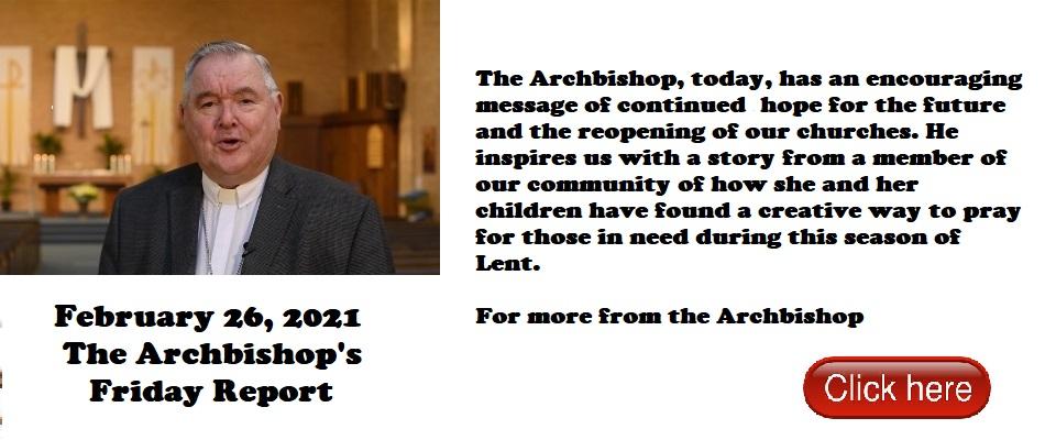 Archbishop message 26022021